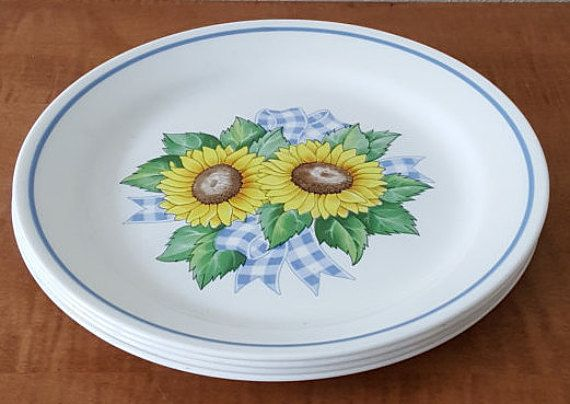 Corelle Sunsations Lunch or Dessert Plates Set of 5 White Plates ...
