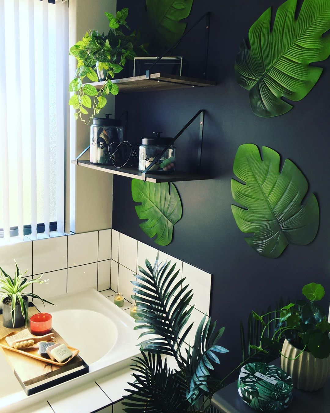 Kmart Hack Queen On Instagram Tropical Bathroom My Little Kmart Hack To Decorate My Walls A Little Kmart Hacks Tropical Bathroom Kmart Home Also you can frame your print at online framing services: kmart hack queen on instagram