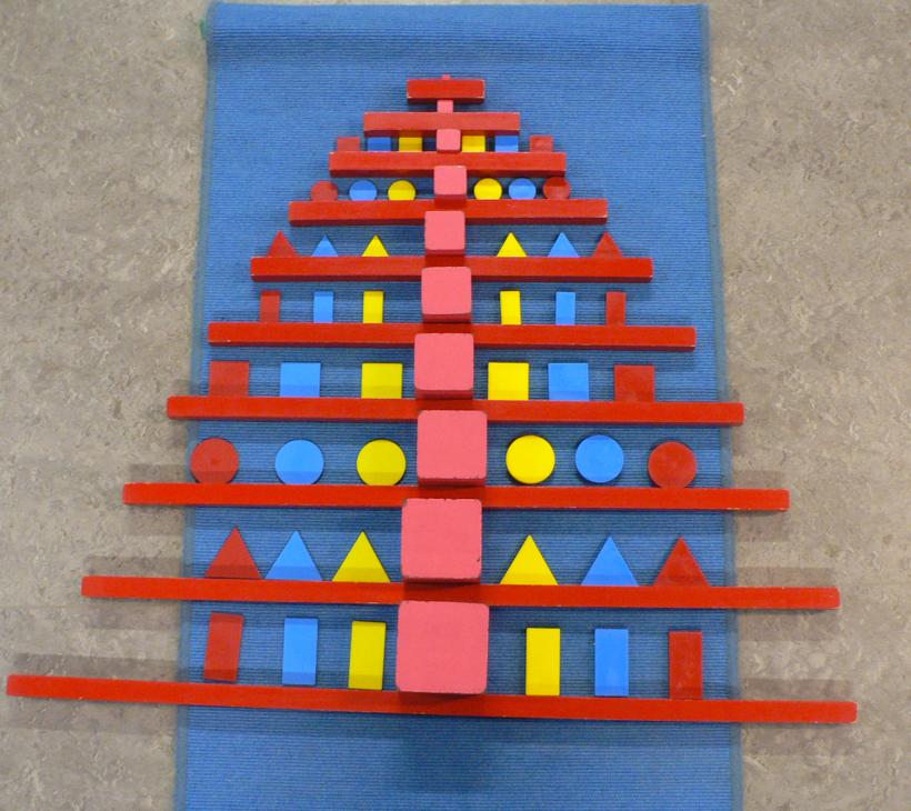 Kerstboom met Montessorimateriaal