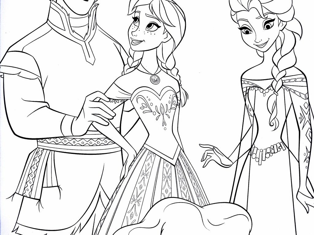 Frozen Coloring Pages Kristoff And Sven Pin Olaf Movie