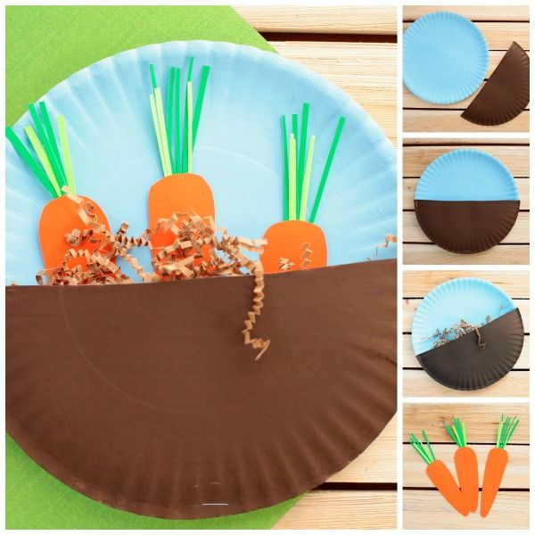 Carrots In The Garden Craft For Kids Arts Crafts Crafts For