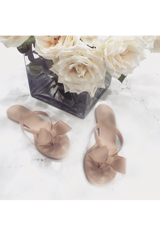 PRE ORDER 7.11.16: Bows Before Bros Beige Jelly Sandals