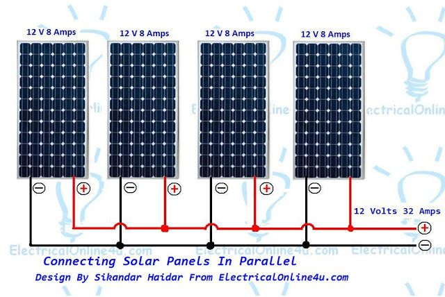 The Complete Method Connect Solar Panels In Parallel And Calculation Solar Panels Solar Solar Panel Installation