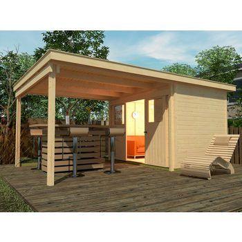 WEKA Set Gartenhaus »Loungehaus Gr.4«, BxT 529x338 cm