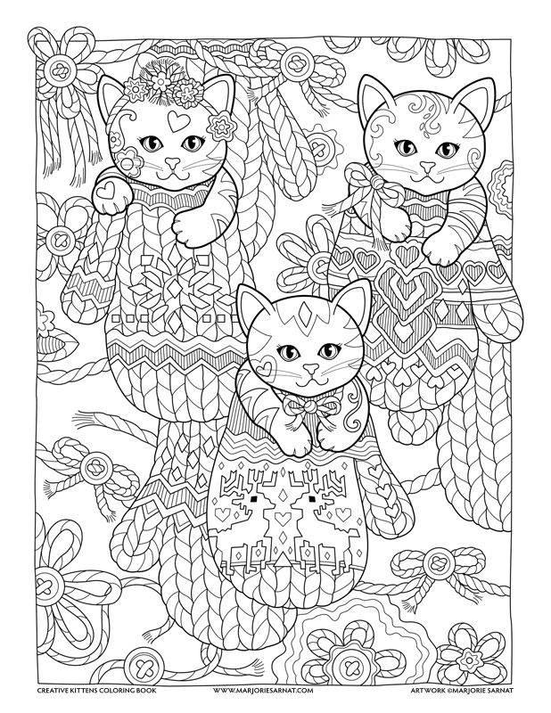 Mittens Creative Kittens Coloring Book By Marjorie Sarnat