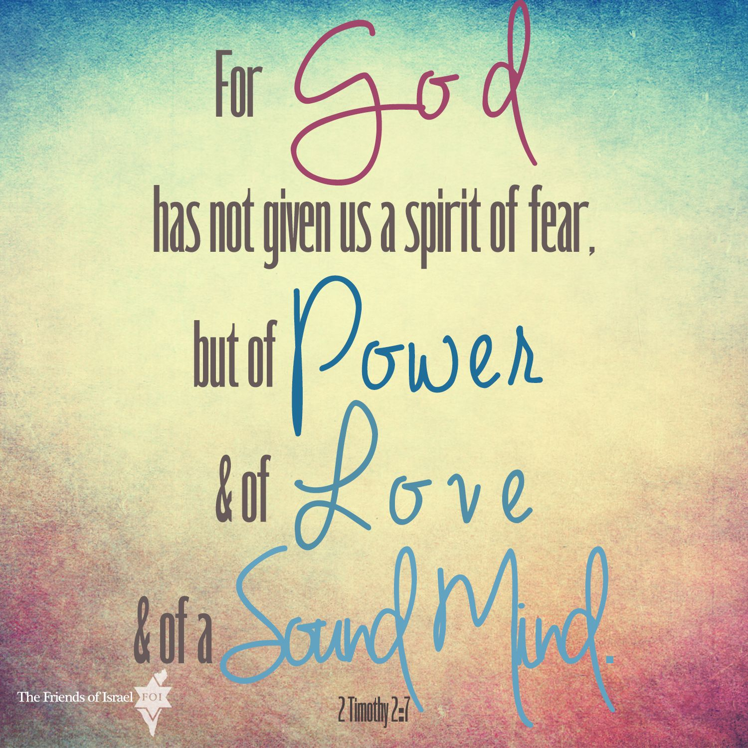 2 Timothy 2:7 God does not give us a spirit of fear! #Bible #verse #Scripture #design | Spirit of fear, Faith  encouragement, Scripture quotes