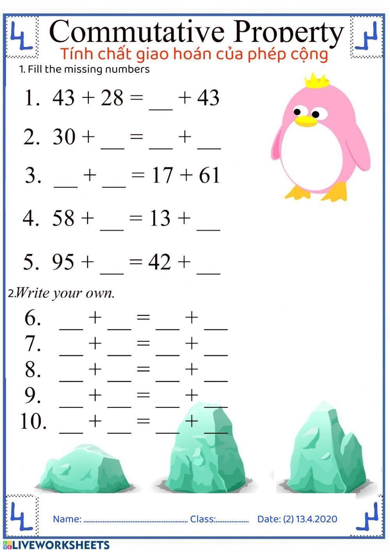Worksheet Grade 6 Math Distributive Property Of Numbers Math Fractions Worksheets Math Worksheets Free Math Worksheets