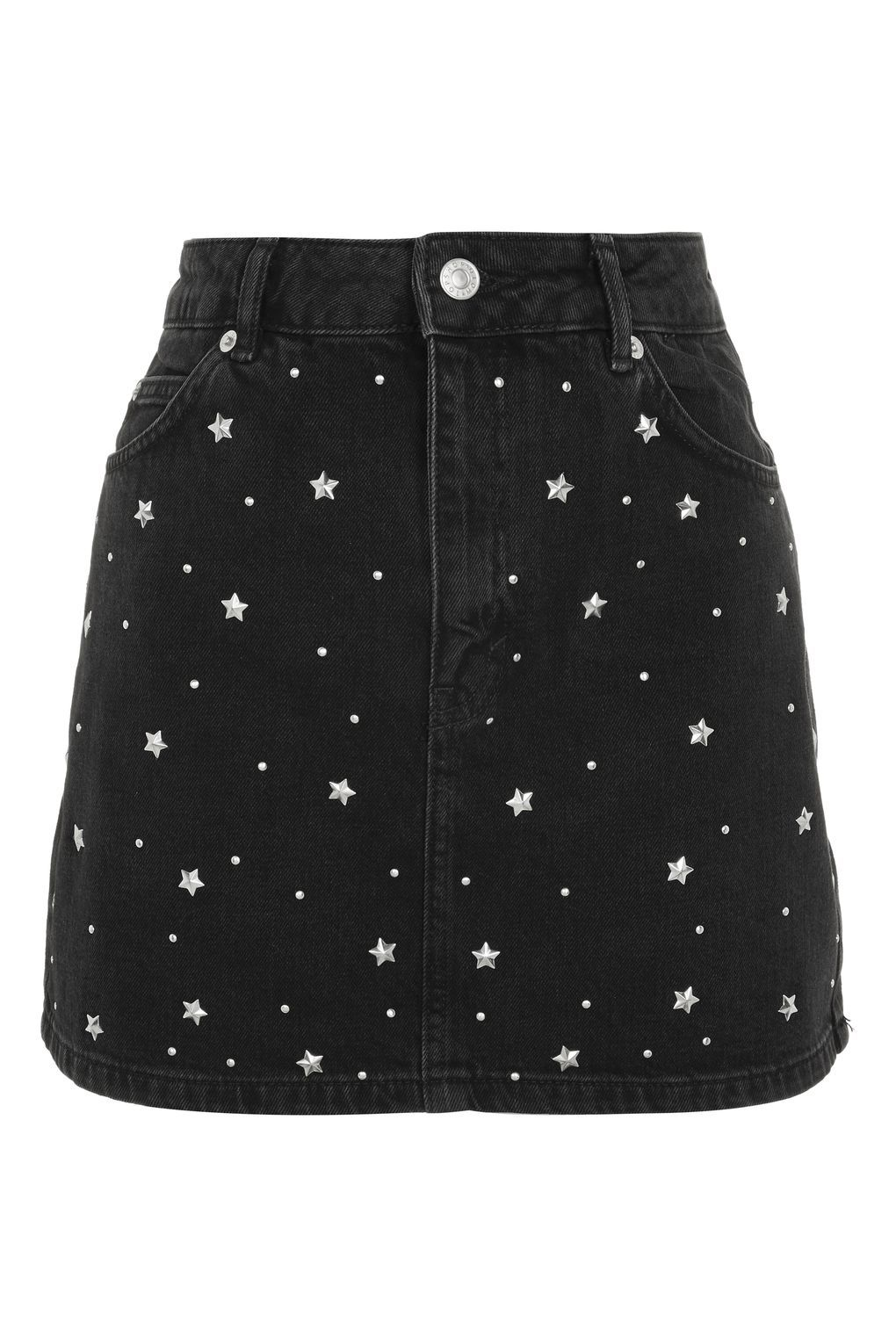 35e2ec332e MOTO Star Stud Denim Skirt in 2019 | Fashion | Studded denim, Black ...