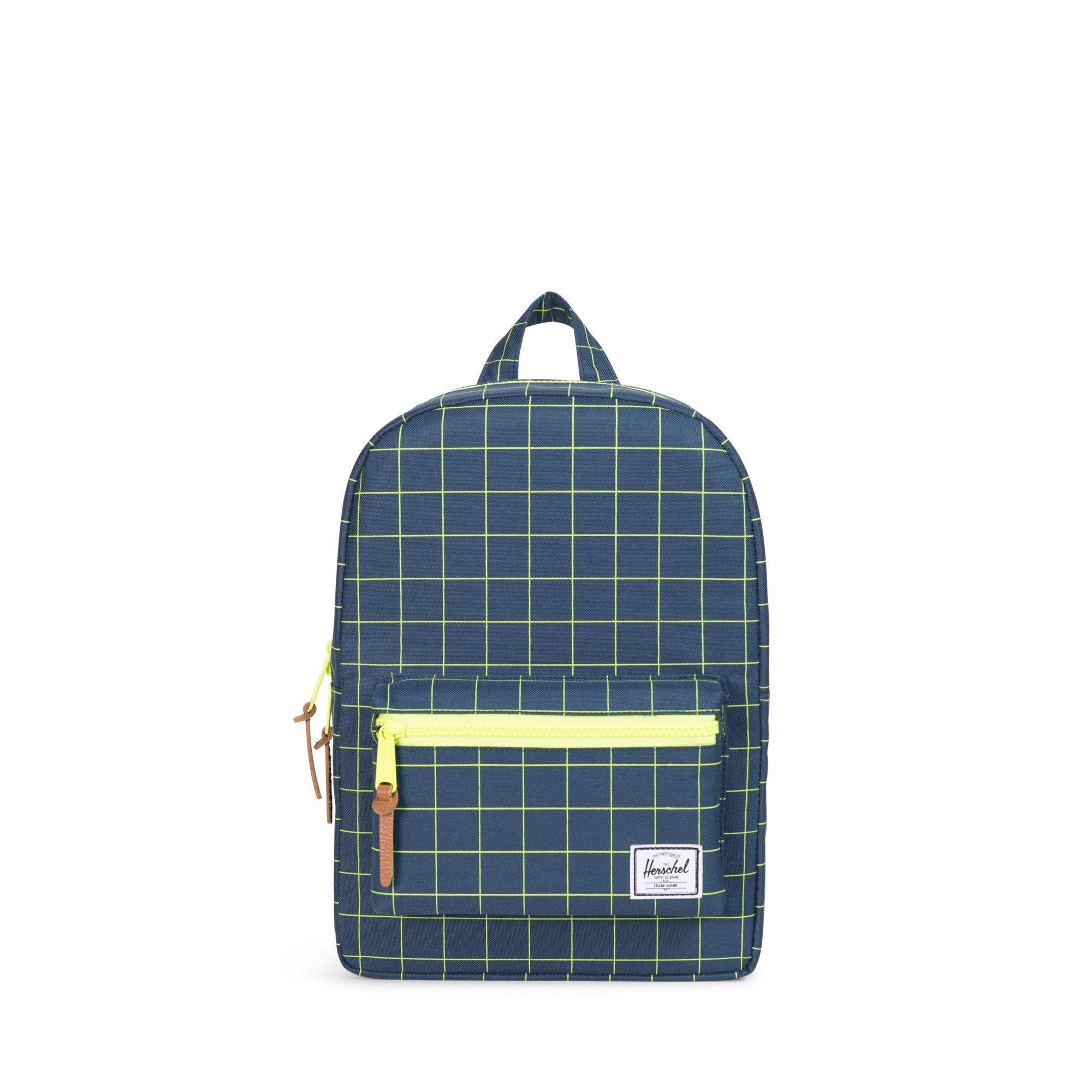 30b6bccb6ca Sized down specifically for children 6 and under, the Herschel Settlement™ Kids  Backpack features exposed plastic zippers and durable custom detailing.