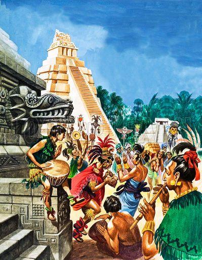Suku Maya di masa pra sejarah.