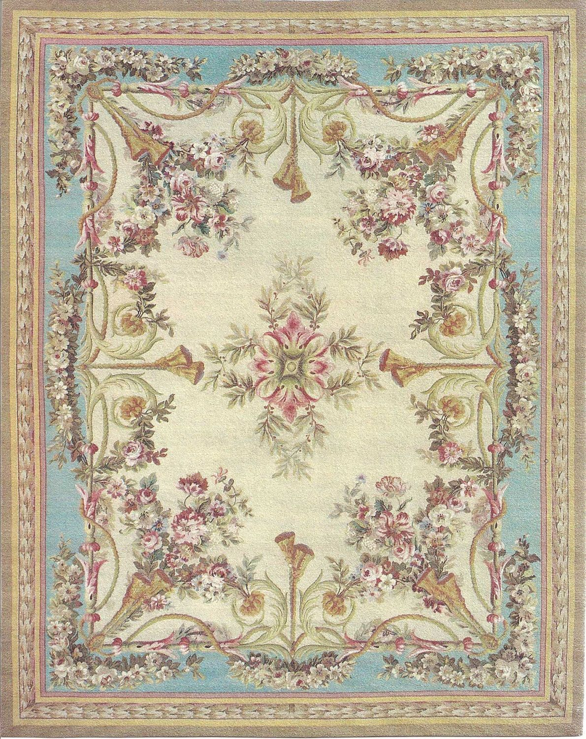 5 X6 French Victorian Shabby Chic Dollhouse Miniature Area Rug