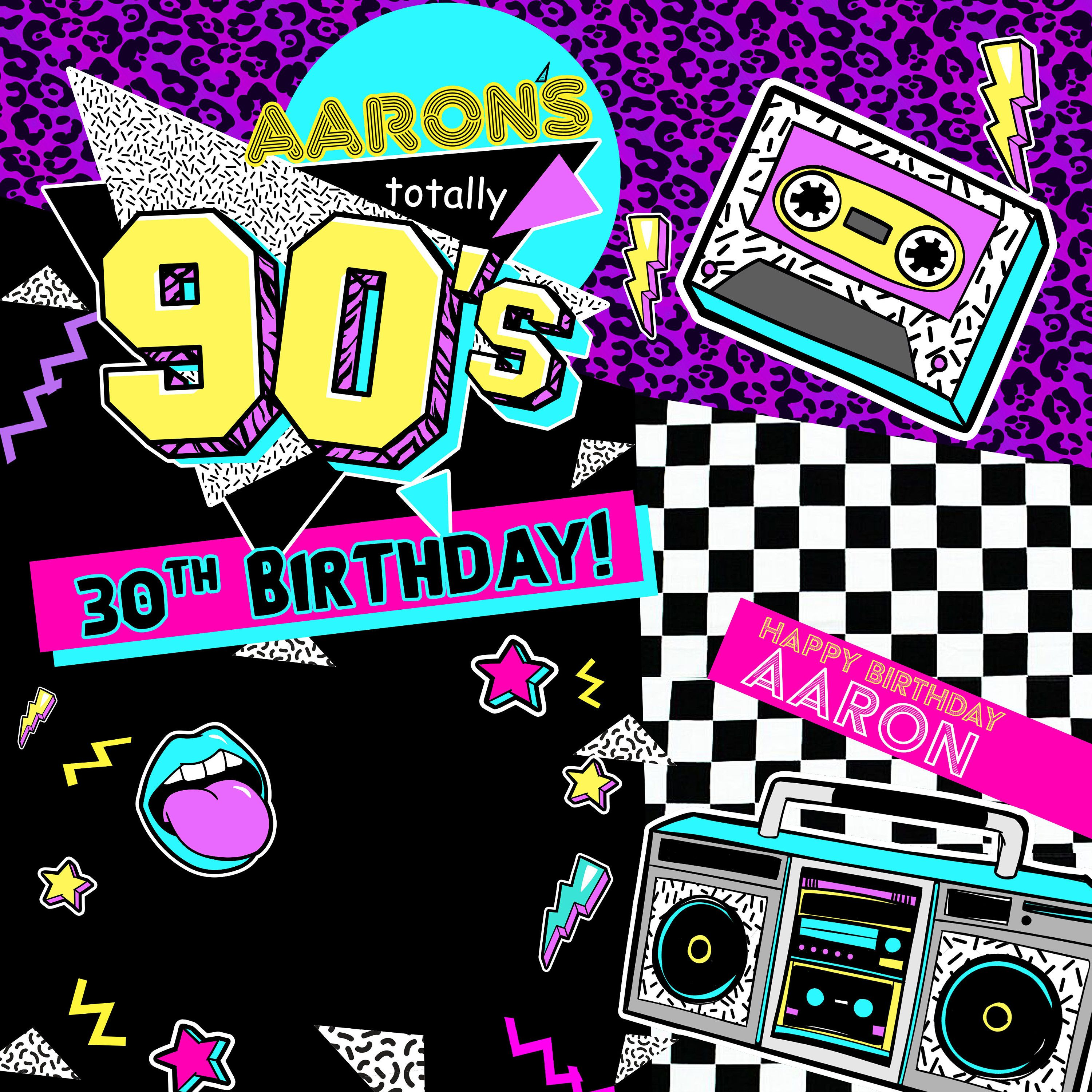 Back To The 90 S Party Personalized Photo Backdrop 90s Etsy Party Photo Backdrop Photo Backdrop Birthday 90s Theme Party