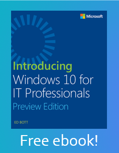 Free ebook download for Microsoft training - Introducing Windows 10 for IT Professionals
