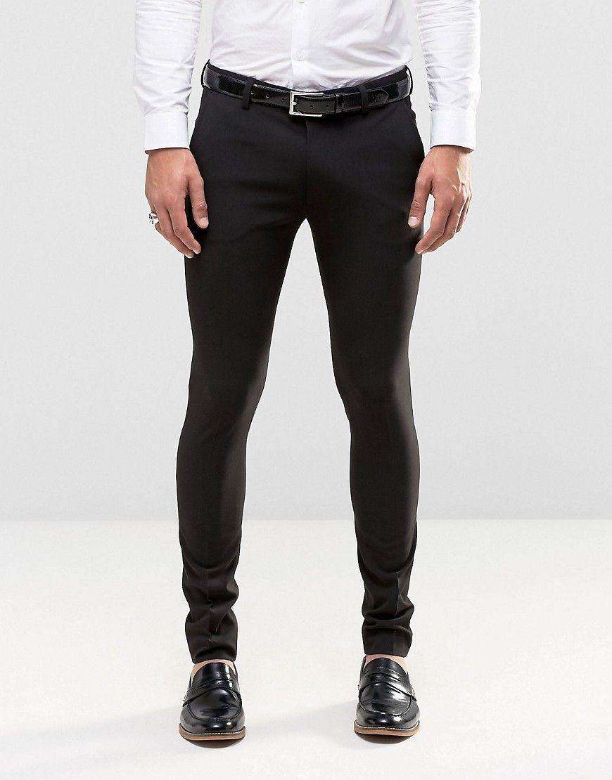 Asos Super Skinny Fit Suit In Black At Asos Com Skinny Suit Pants Mens Skinny Suits Skinny Fit Suits [ 1110 x 870 Pixel ]