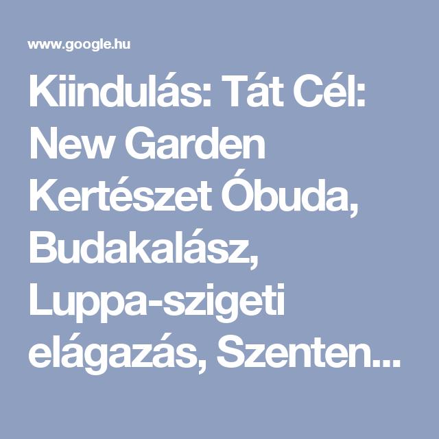 tát térkép Kiindulás: Tát Cél: New Garden Kertészet Óbuda, Budakalász, Luppa  tát térkép