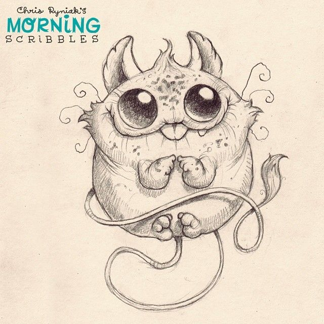 Chubby Churble. #morningscribbles | Zeichnä | Pinterest | Dibujo ...