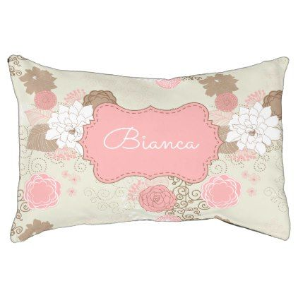 Vintage Shabby Chic Pink U0026 Brown Floral Pattern Pet Bed   Chic Design Idea  Diy Elegant