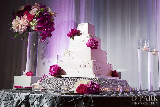 Google Image Result For Http Www Dparkphotography Blog Wedding Photos 2017 07 11 White Pink Fuschia Cake Jpg And Silver Pinterest