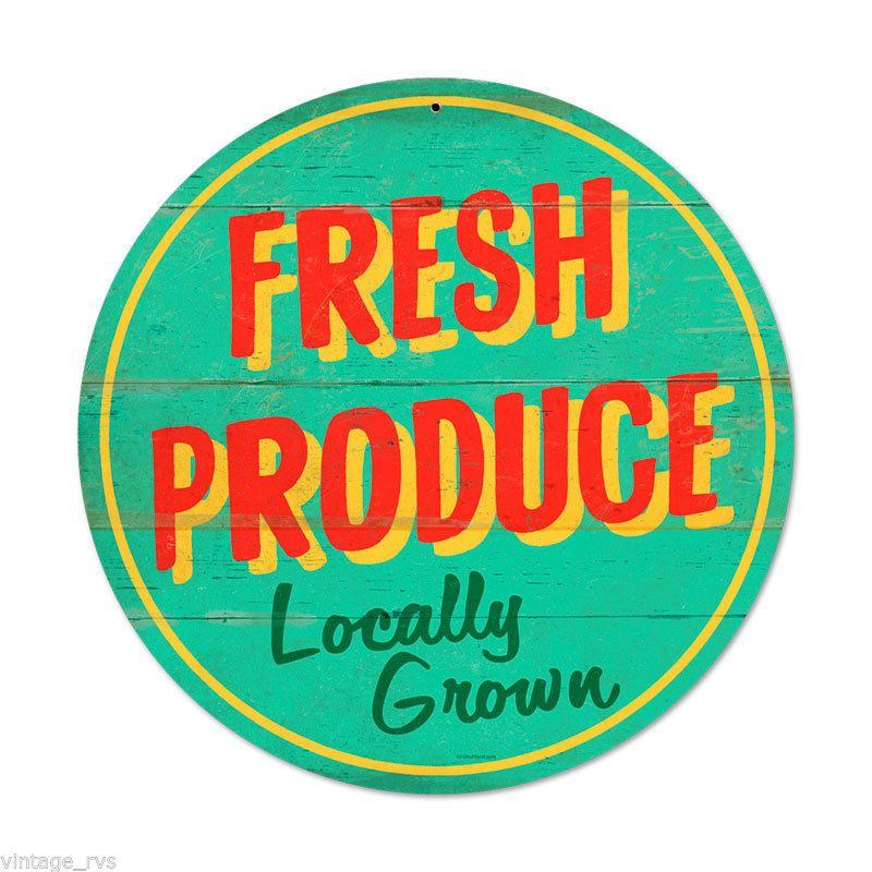 Farm Retro Style Logos: Vintage Grocery Store Signs