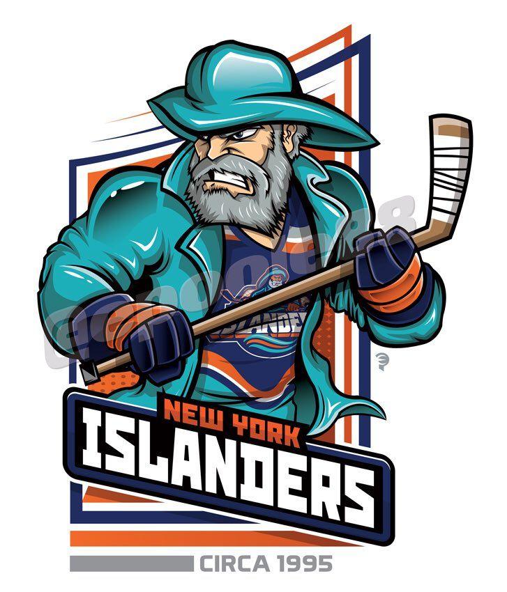 Retro mid1990s New York Islanders, courtesy of that great