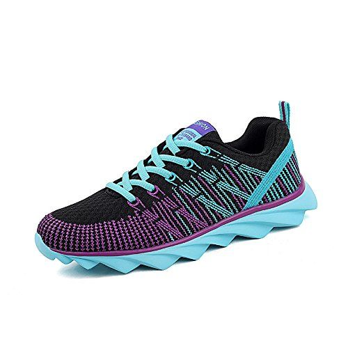 TooTa Flyknit Women Breathable Wearproof Walking Sport Outdoor Running Shoes 8 BM US Purple ** Click on the image for additional details.