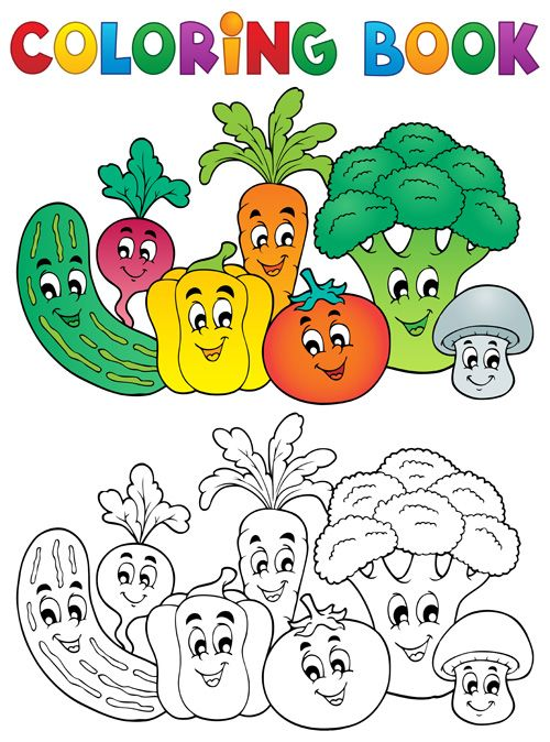 Coloring Book Vector Set 05 Vector Other Free Download Coloring Books Coloring Book Download Coloring Pages