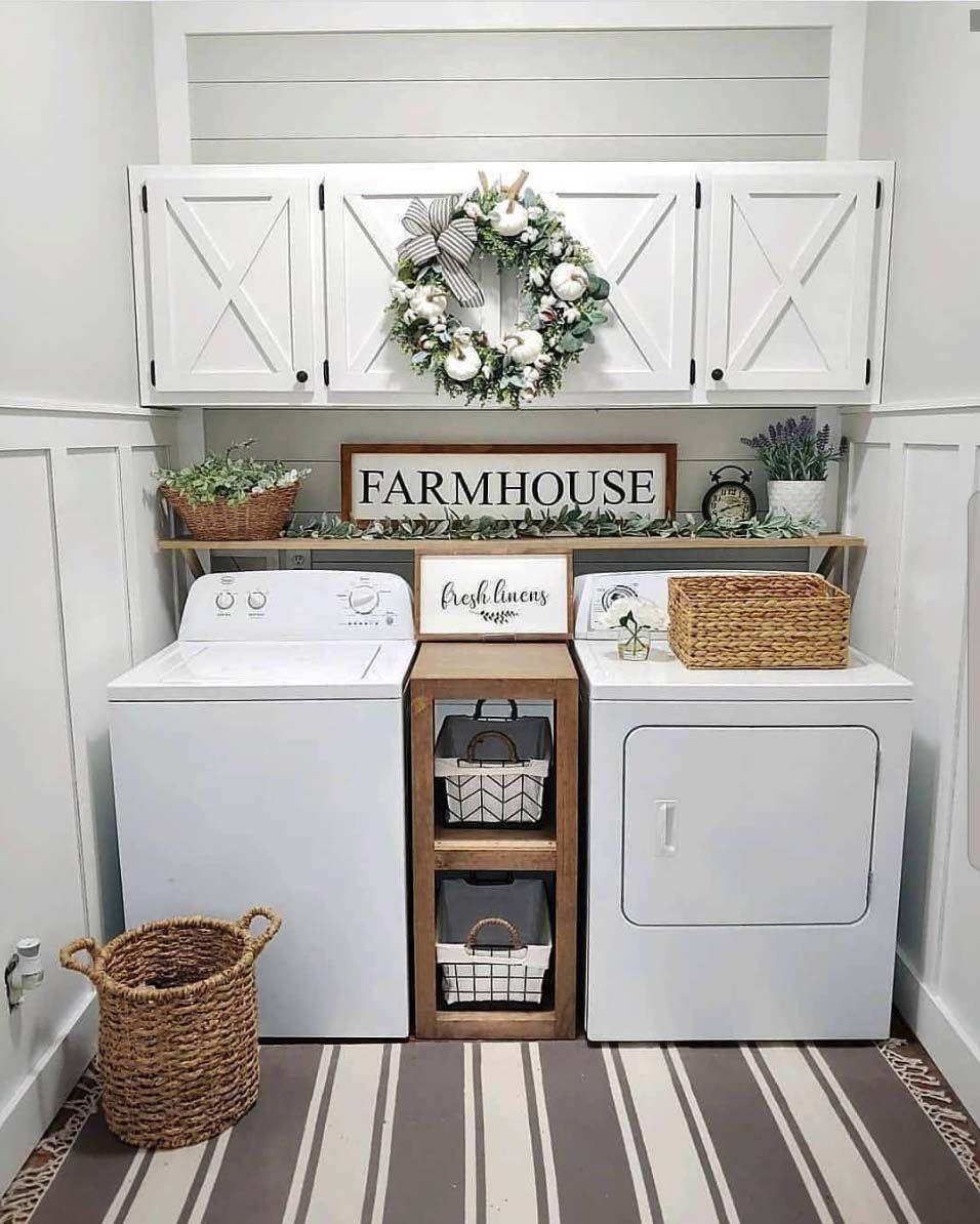33 Fantastic Ideas To Cozy Your Home With Farmhouse Fall Decor Dream Laundry Room Laundry Room Renovation Laundry Room Organization Storage