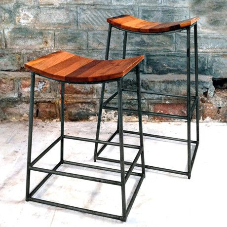 Reclaimed Crate Barstool By Alessandro & Laleh Latini