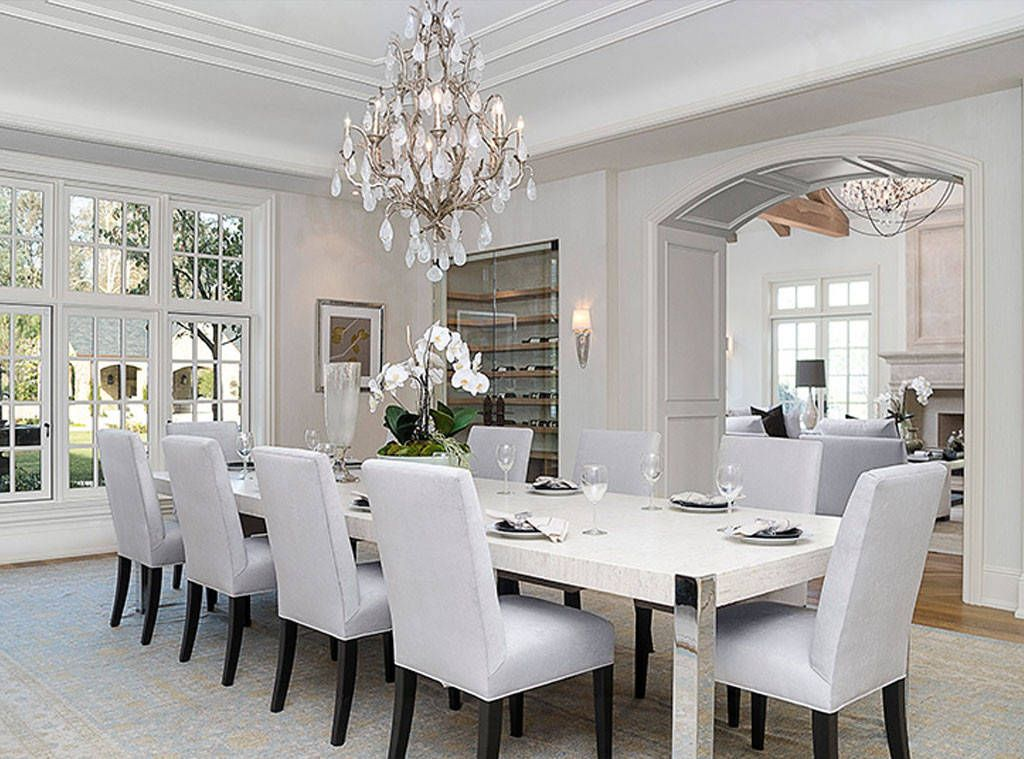Dinner With Anna Wintour From Kim Kardashian Kanye West S 20 Million Dream Home Luxury Kitchens Mansions West Home Luxury Dining Room