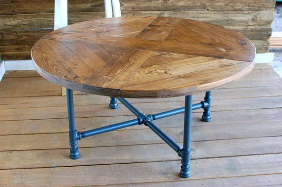 Round Industrial Coffee Table Round Coffee Table Industrial