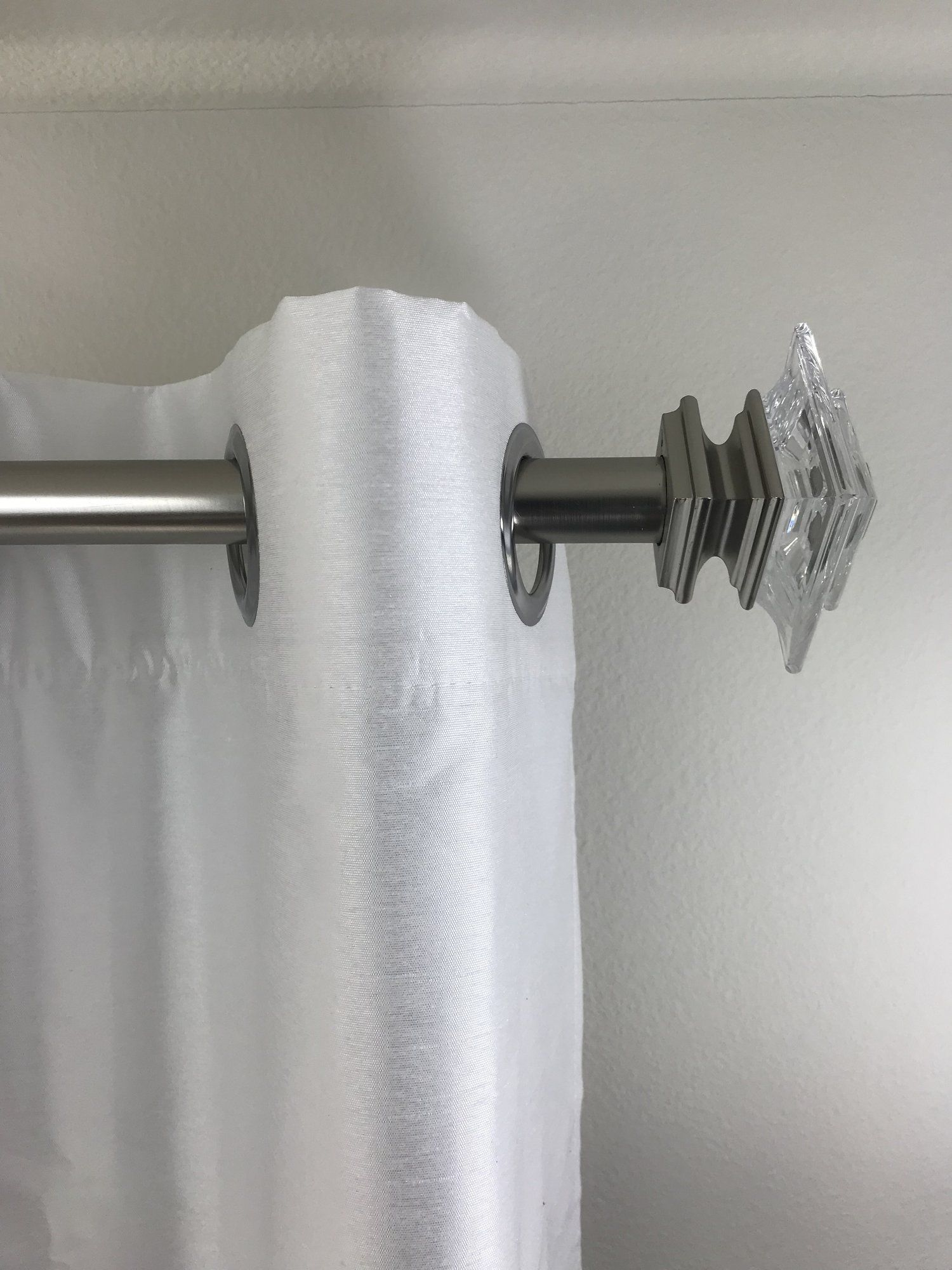 Outside Mounted Blinds Curtain Rod Bracket Attachment Curtain