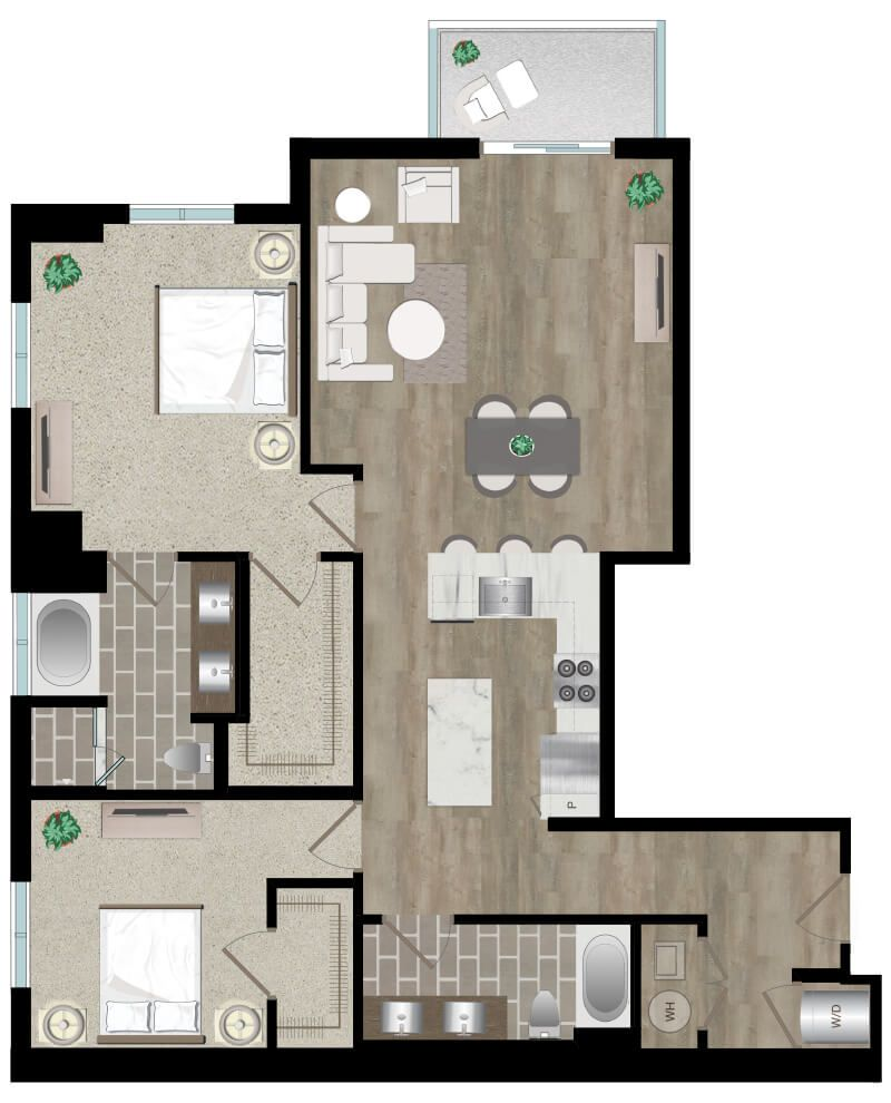 Pin By Icon Harbour Island Apartments On Two Bedroon Apartment In Tampa Fl Apartments For Rent Two Bedroom Apartments Luxury Rentals