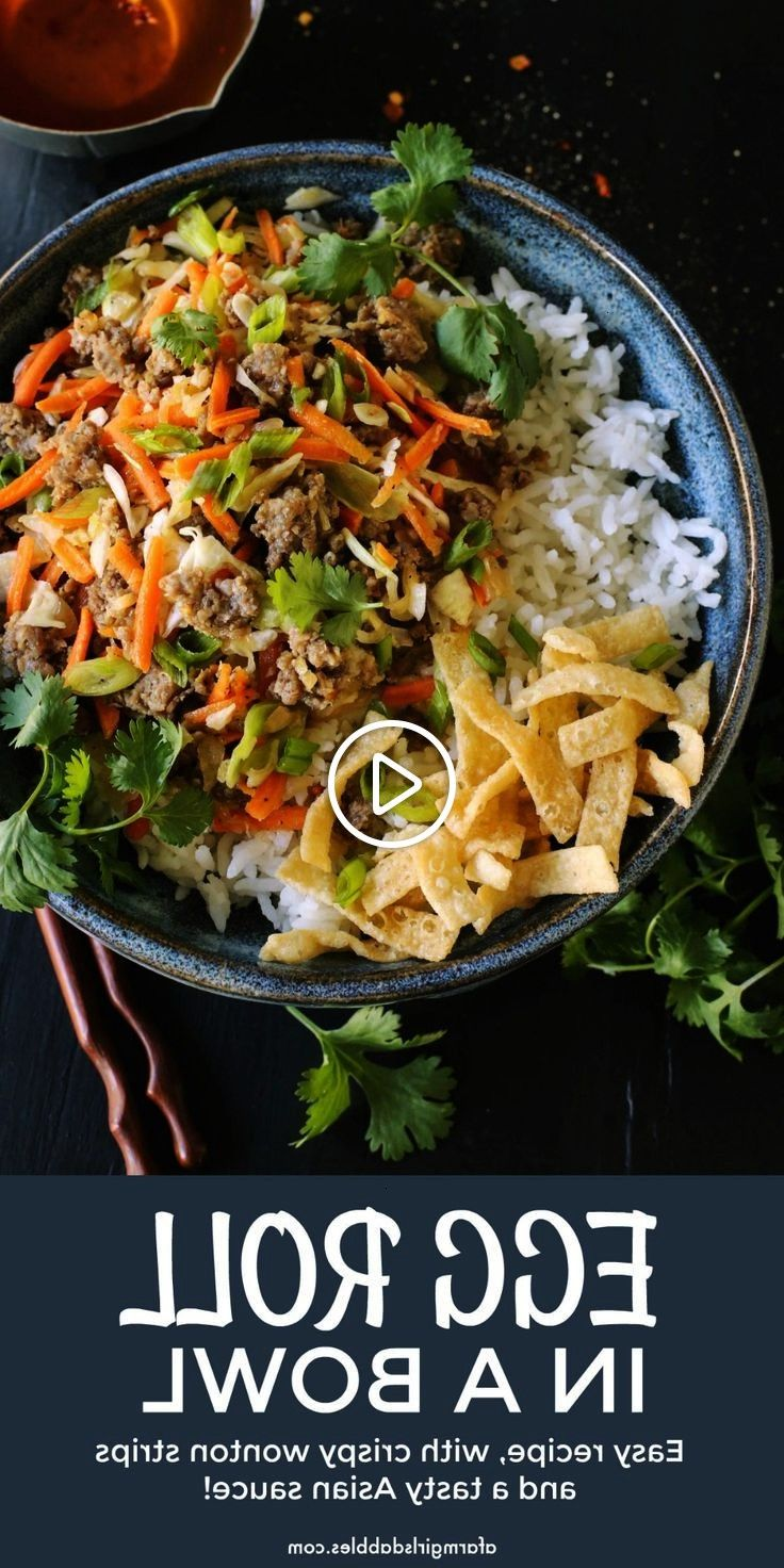 #afarmgirlsdabblescom #deconstructed #vinaigrette #featuring #flavors #eggroll #carrots #cabbage #strips #wonton #crispy #served #ground #recipe #sauceEgg Roll in a Bowl recipe from  - An easy dish featuring egg roll flavors of ground pork, cabbage, and carrots. Served with crispy wonton strips and a tasty Asian sauce!Egg Roll in a Bowl recipe from  - An easy dish featuring egg roll flavors of ground pork, cabbage, and carrots. Served with crispy wonton strips and a tasty Asian sauce!  Hi... #eggrollinabowl
