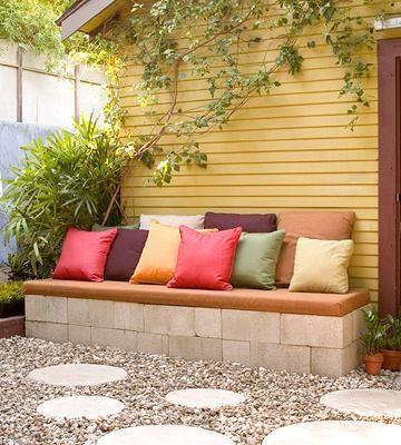 Decora con bloques de cemento rapido y economico vctry for Bloques de cemento para jardin