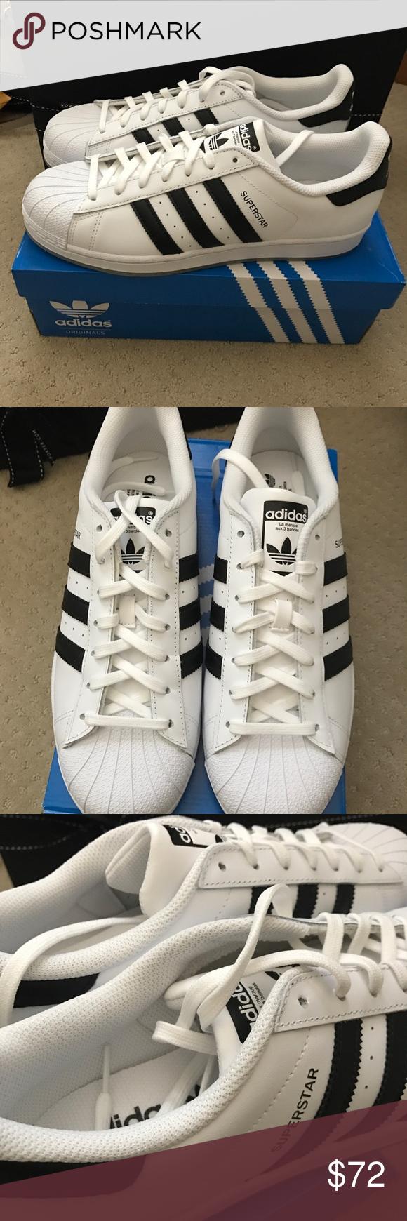 adidas superstar scarpe nuove di zecca, con tutti gli imballaggi intatta