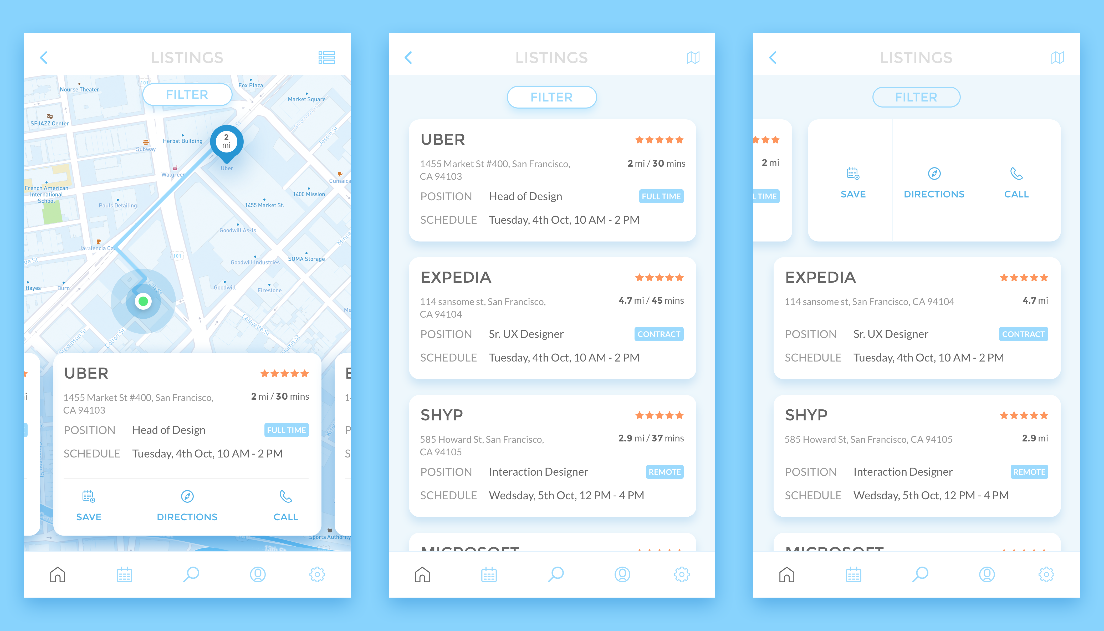 Rp Interviewlocation App Design App Interface Web Design