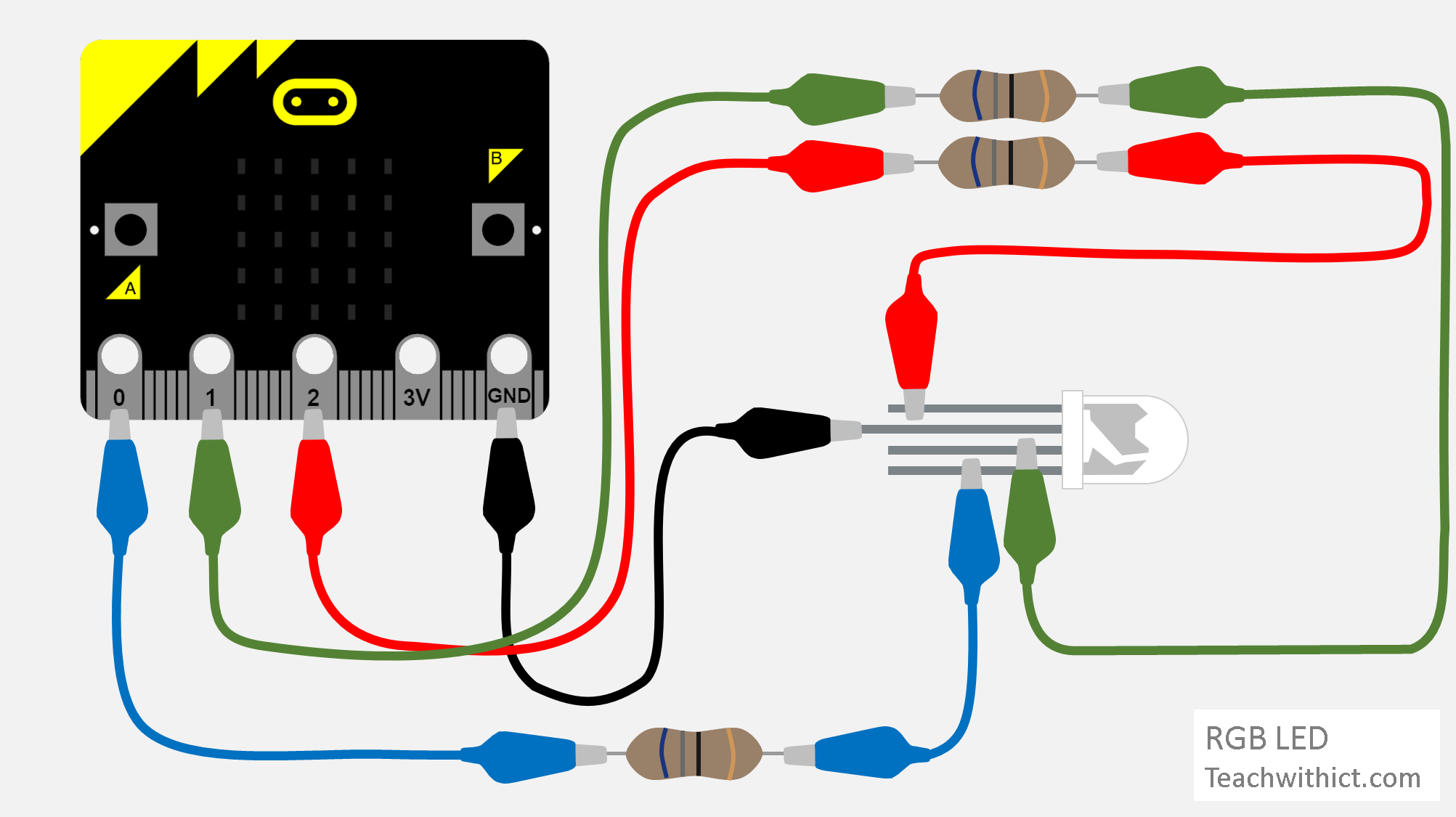 How To Connect An Rgb Led To A Bbc Micro Bit Rgb Led Arduino Arduino Projects