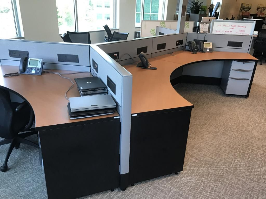 Used Cubicles  Haworth Premise with Low Panels with 48 degree