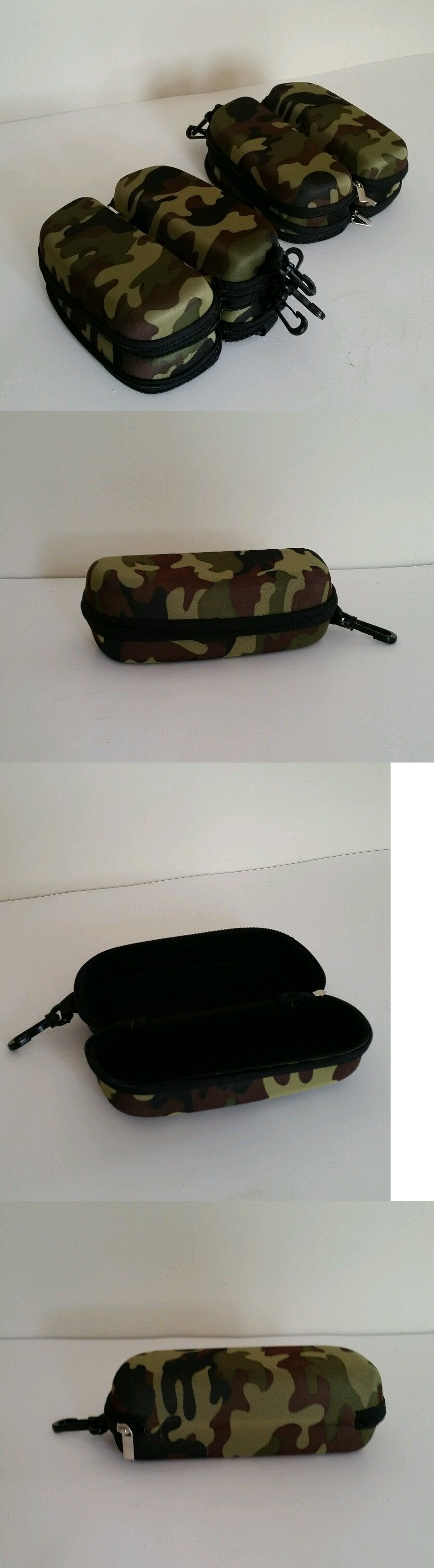 Eyeglass Cases: Qty 100 Camouflage Camou Clamshell Hard Sunglasses Case Cheap Bulk Discount Lot BUY IT NOW ONLY: $119.99