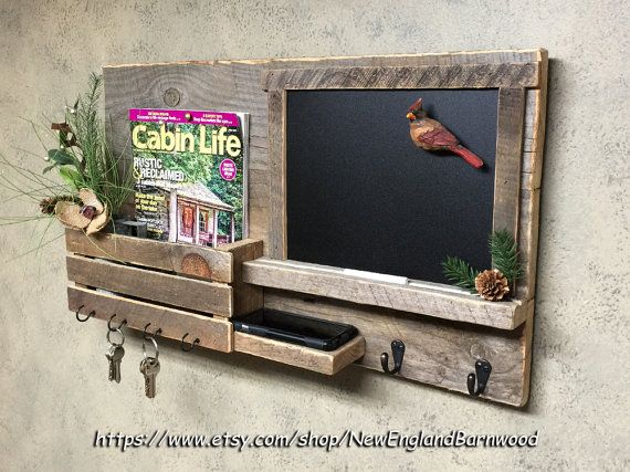 Wall Chalkboard Organizer Mail Apartment Decor Message Board And Key Rack Holder