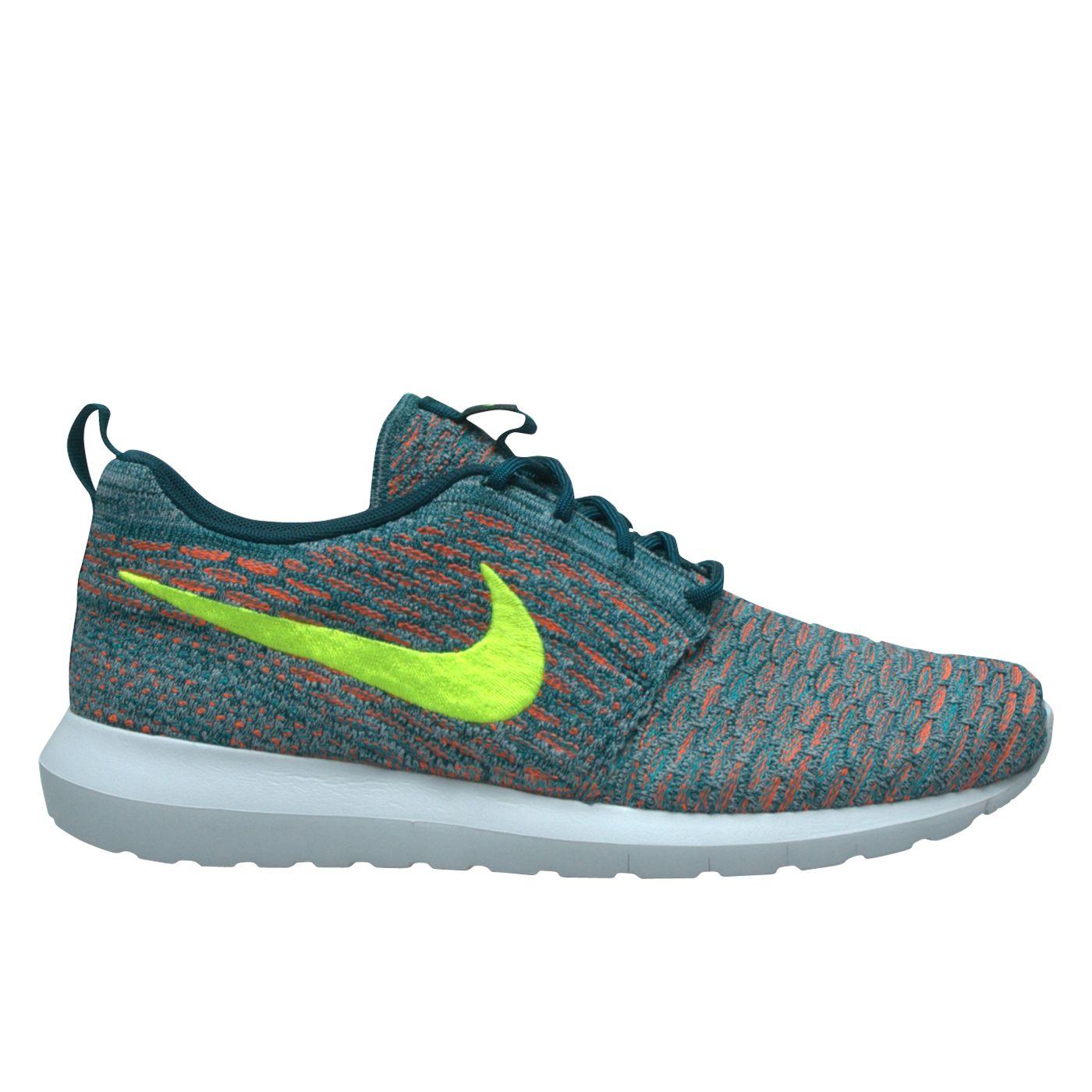 taille 40 0daaf 4ddfd Nike Flyknit Rosherun Light Blue/Orange - UEBERVART | Nike ...