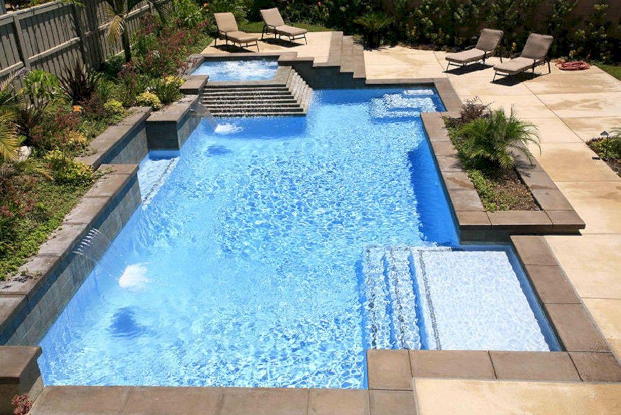 Awesome 70 Inspiring Geometric Pool Designs Ideas Https About Ruth Com 2017 11 15 70 Inspiring Geomet Geometric Pool Backyard Pool Landscaping Backyard Pool