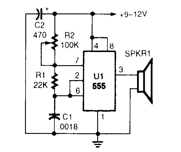 ultrasonic wave generator circuit