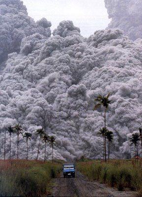 Mount Pinatubo Philippines erupts