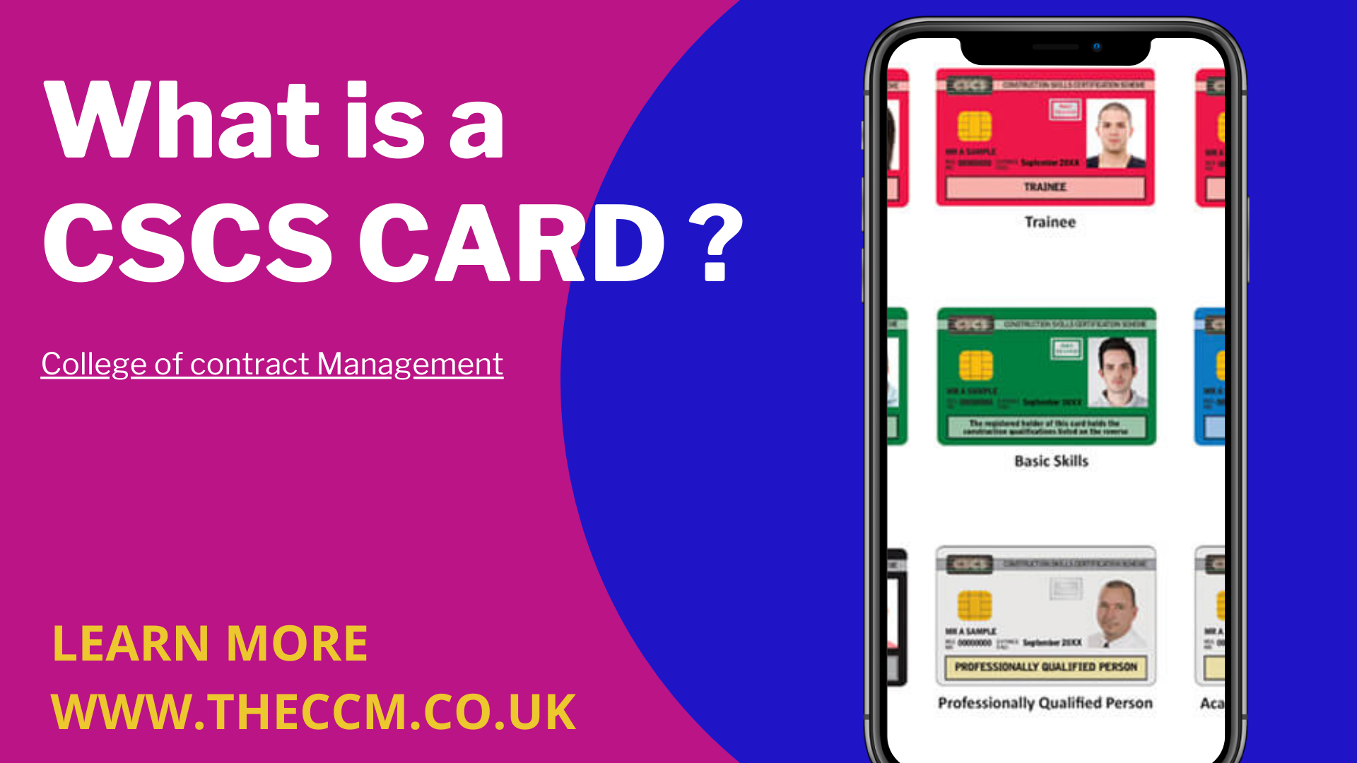 how do i get a cscs card in 2020 Contract management