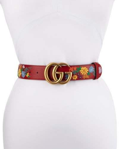 01c0fb3350d Gucci GG Marmont Flower-Embroidered Belt  Gucci  ShopStyle  MyShopStyle  click link to see more information