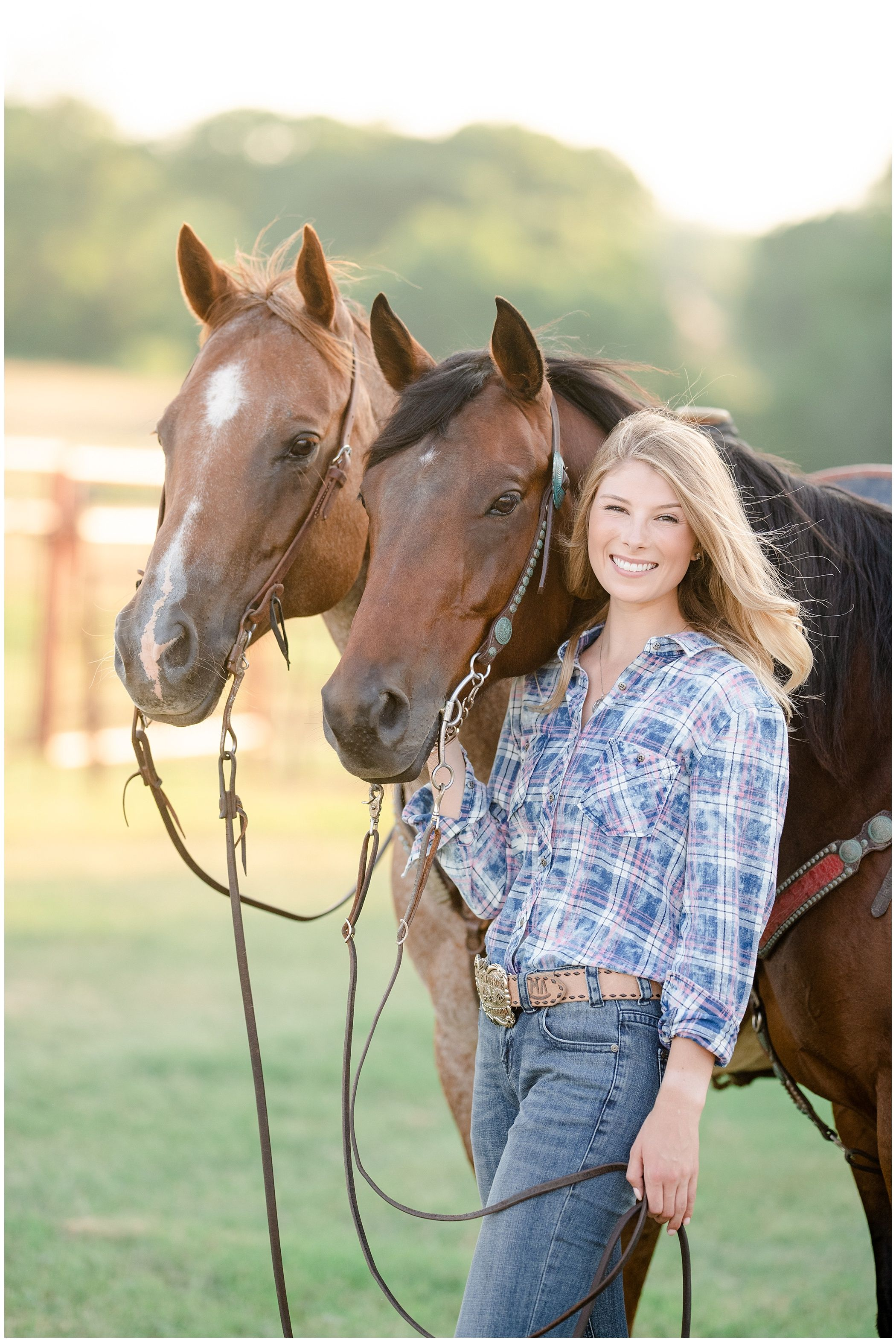 Colby Plott And Monica Therrien Modeling For Rock And Roll Denim Panhandle Western Wear Horse Photography Poses Horse Senior Pictures Horse Girl Photography