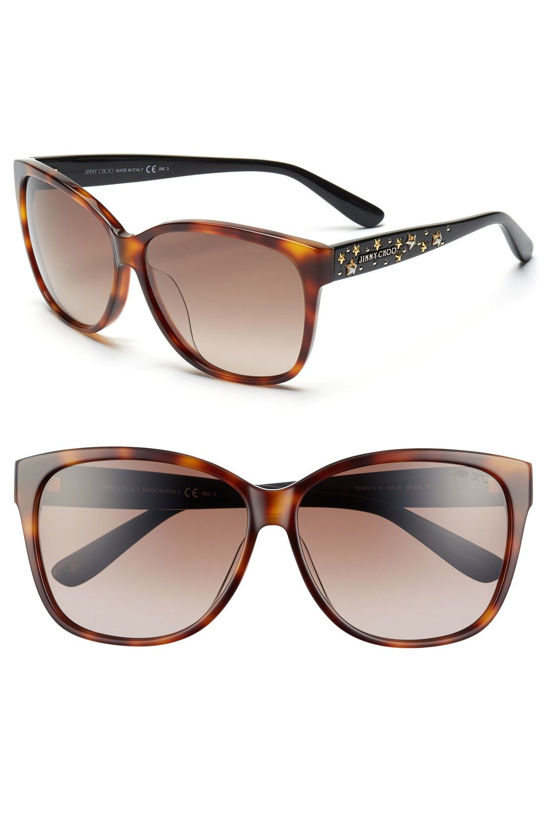 5d60fd087541 Obsessed with these Jimmy Choo sunglasses with Swarovski crystals ...