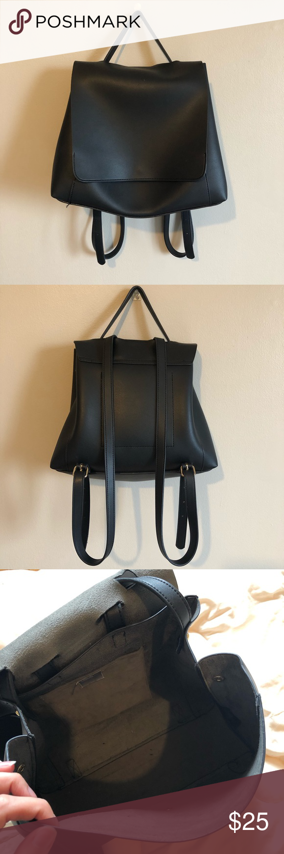 a48d45f32be7 ASOS DESIGN Large Minimal Backpack (Black) ASOS DESIGN Large Minimal  Backpack (Black)