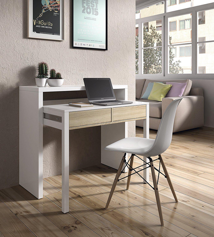 Habitdesign 0F4582BO - Mesa escritorio extensible, mesa estudio ...